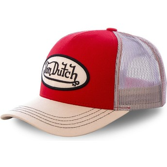 Casquette trucker rouge et khaki COLRED Von Dutch