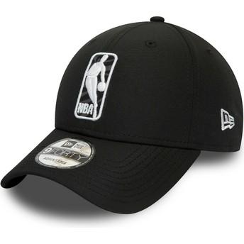 Casquette courbée noire ajustable 9FORTY Logo Hook Jerry West NBA New Era