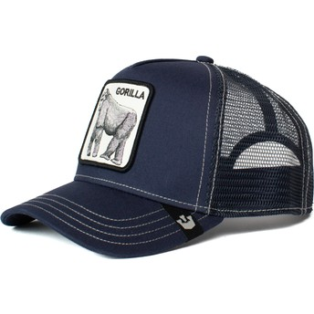 Casquette trucker bleue marine gorille King of the Jungle Goorin Bros.