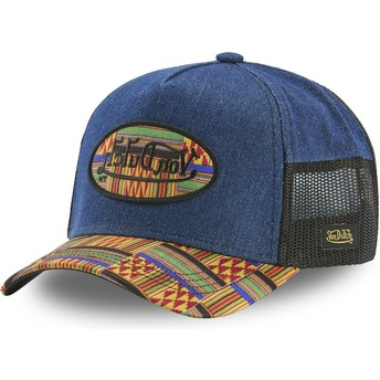 Casquette trucker bleue ATRU WAX Von Dutch