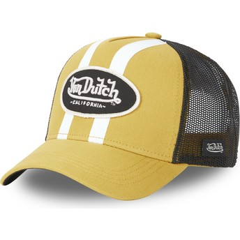 Casquette trucker jaune STRI M Von Dutch