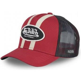 Casquette trucker rouge STRI R Von Dutch