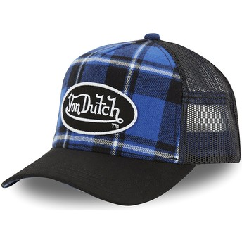 Casquette trucker bleue à carreaux CAR A3 Von Dutch