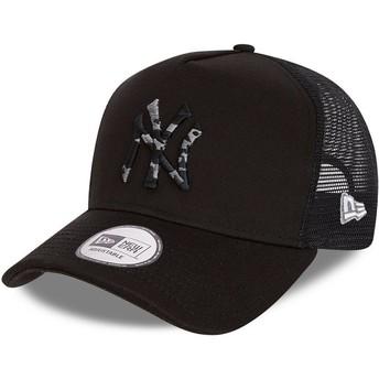 Casquette trucker noire avec logo camouflage noire InFill A Frame New York Yankees MLB New Era