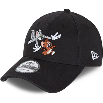 Casquette courbée noire ajustable 9FORTY Tom et Jerry Looney Tunes New Era