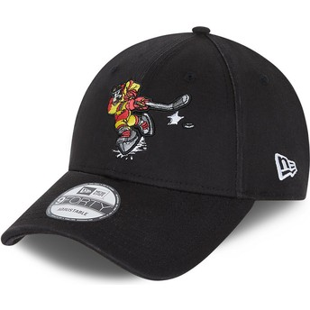 Casquette courbée noire ajustable 9FORTY Character Sports Dingo Goofy Ice Hockey Disney New Era