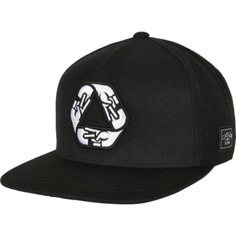 Casquette plate noire snapback WL Iconic Peace Cayler & Sons