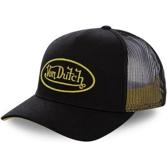 Casquette trucker noire avec logo jaune NEO YEL Von Dutch