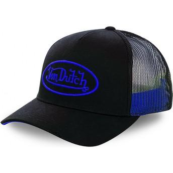 Casquette trucker noire avec logo bleu NEO BLU Von Dutch