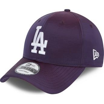 Casquette courbée violette ajustable 9FORTY Hypertone Los Angeles Dodgers MLB New Era