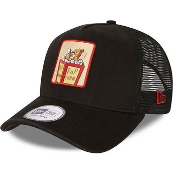 Casquette trucker noire A Frame Tom et Jerry Looney Tunes New Era