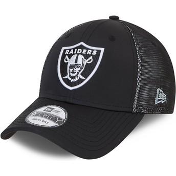 Casquette courbée noire ajustable 9FORTY Mesh Underlay Las Vegas Raiders NFL New Era
