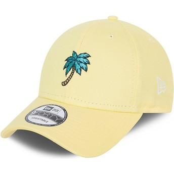 Casquette courbée jaune ajustable 9FORTY Sports Palm Tree New Era