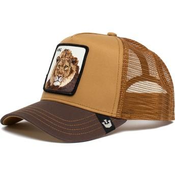 Casquette trucker marron lion King Mane Man The Farm Goorin Bros.