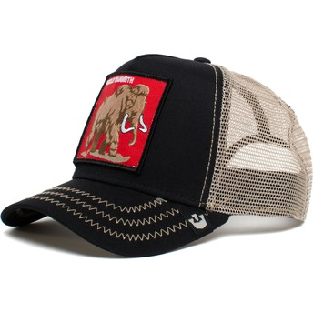 Casquette trucker noire mammouth Wooly Mammoth 6 Tons The Farm Goorin Bros.