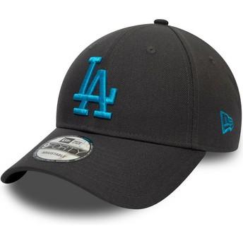 Casquette courbée grise snapback avec logo bleu 9FORTY REPREVE Pop Logo Los Angeles Dodgers MLB New Era