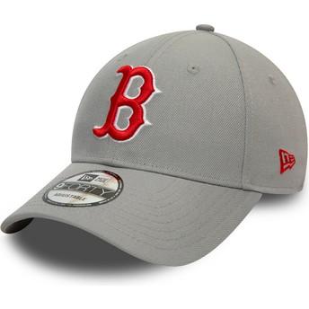 Casquette courbée grise snapback 9FORTY REPREVE Pop Logo Boston Red Sox MLB New Era