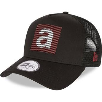 New Era Print A Frame Aprilia Piaggio Black Trucker Hat