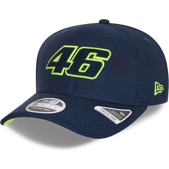 New Era Curved Brim 9FIFTY Diamond Era Stretch Fit Valentino Rossi VR46 Navy Blue Snapback Cap