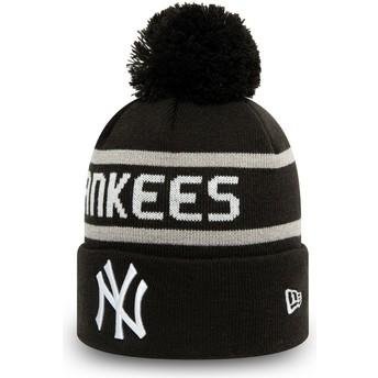 Bonnet noir avec pompom Cuff Knit Jake New York Yankees MLB New Era