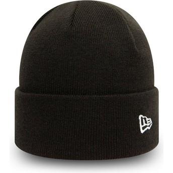 New Era Cuff Knit Pop Short Black Beanie