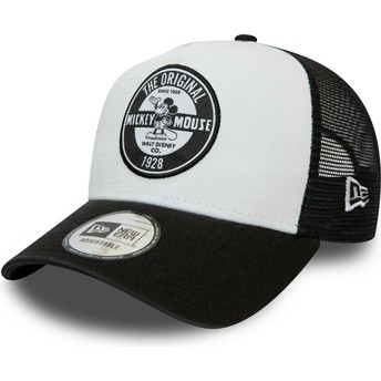 Casquette trucker blanche et noire Character A Frame Mickey Mouse Disney New Era