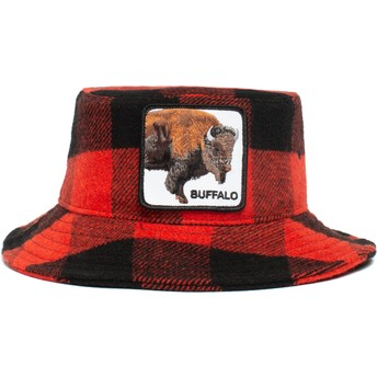 Chapeau seau rouge et noir buffle Buffalo I'm A Little Hoarse The Farm Goorin Bros.