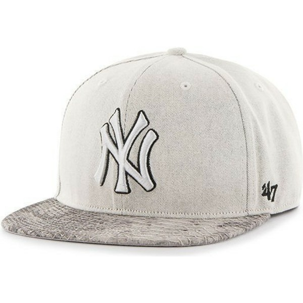 casquette-plate-grise-snapback-new-york-yankees-mlb-47-brand