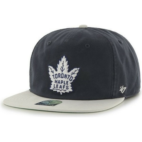 casquette-plate-noire-snapback-toronto-maple-leafs-nhl-47-brand