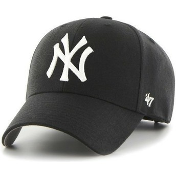 47 Brand Curved Brim New York Yankees MLB Cap schwarz