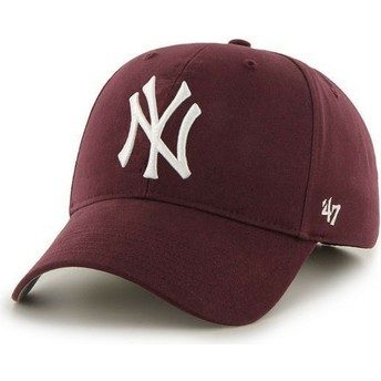 47 Brand Curved Brim New York Yankees MLB Cap braun