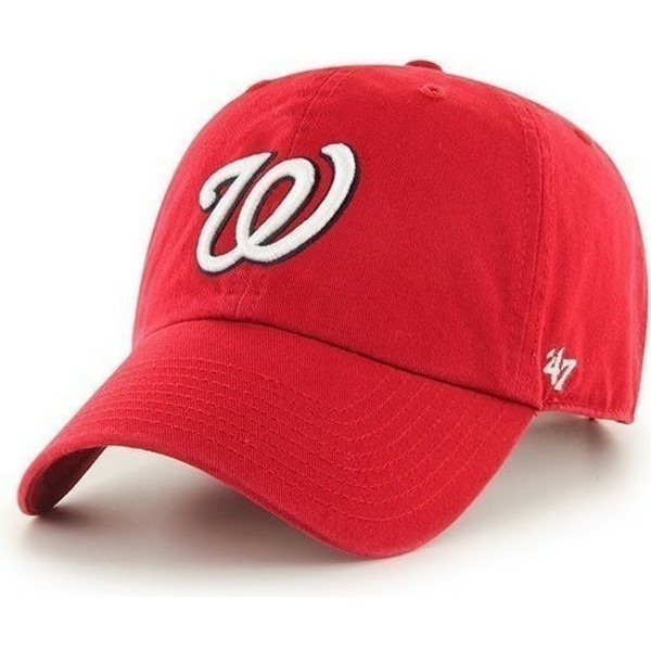 casquette-courbee-rouge-washington-nationals-mlb-clean-up-47-brand