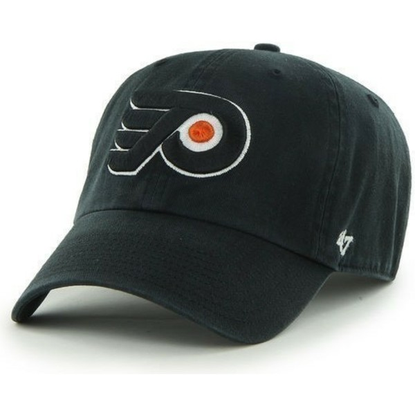 casquette-courbee-noire-philadelphia-flyers-nhl-clean-up-47-brand