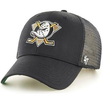 Casquette trucker noire avec grand logo frontal NHL Anaheim Ducks 47 Brand