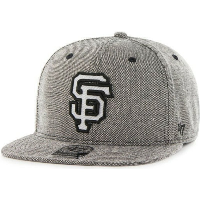 casquette-plate-noire-snapback-cuir-mlb-san-francisco-giants-47-brand