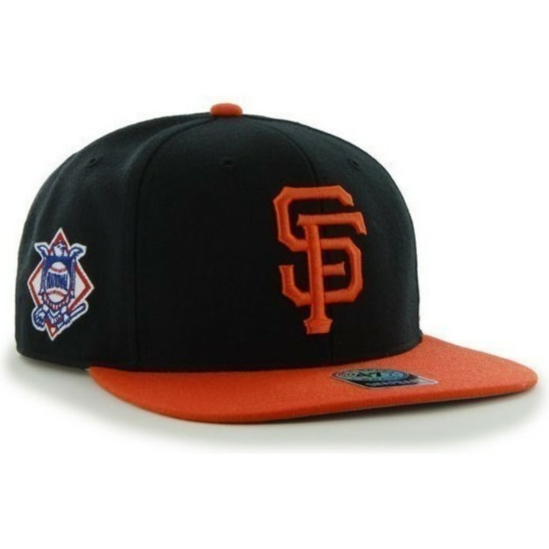casquette-plate-noire-snapback-unie-avec-logo-lateral-mlb-san-francisco-giants-47-brand