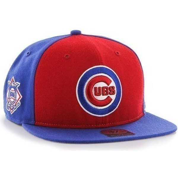 casquette-plate-bleue-snapback-unie-avec-logo-lateral-mlb-chicago-cubs-47-brand