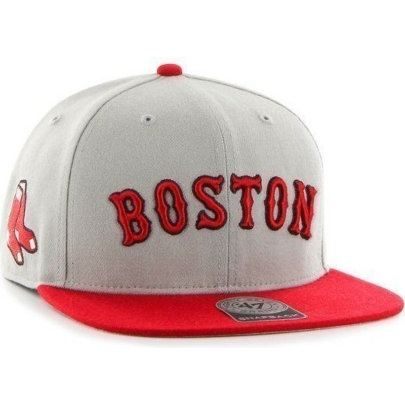 casquette-plate-grise-snapback-avec-logo-lateral-mlb-boston-red-sox-47-brand