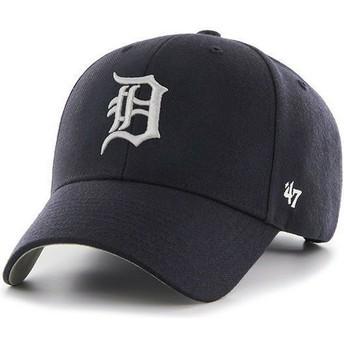 Casquette à visière courbée bleue marine unie MLB Detroit Tigers 47 Brand