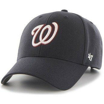 Casquette à visière courbée bleue marine unie NHL Washington Nationals 47 Brand