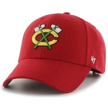Casquette à visière courbée rouge NHL Chicago Blackhawks 47 Brand
