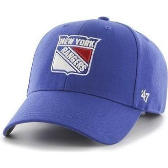 47 Brand Curved Brim NHL New York Rangers Cap blau
