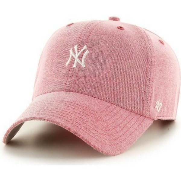 casquette-a-visiere-courbee-rouge-avec-petit-logo-blanc-mlb-newyork-yankees-47-brand