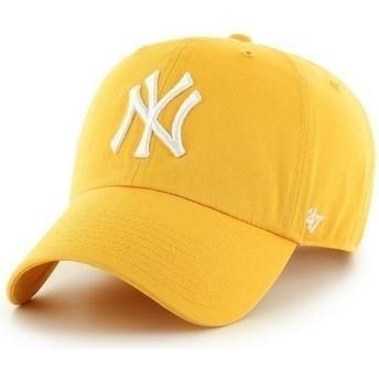Casquette à visière courbée jaune avec grand logo frontal MLB NewYork Yankees 47 Brand