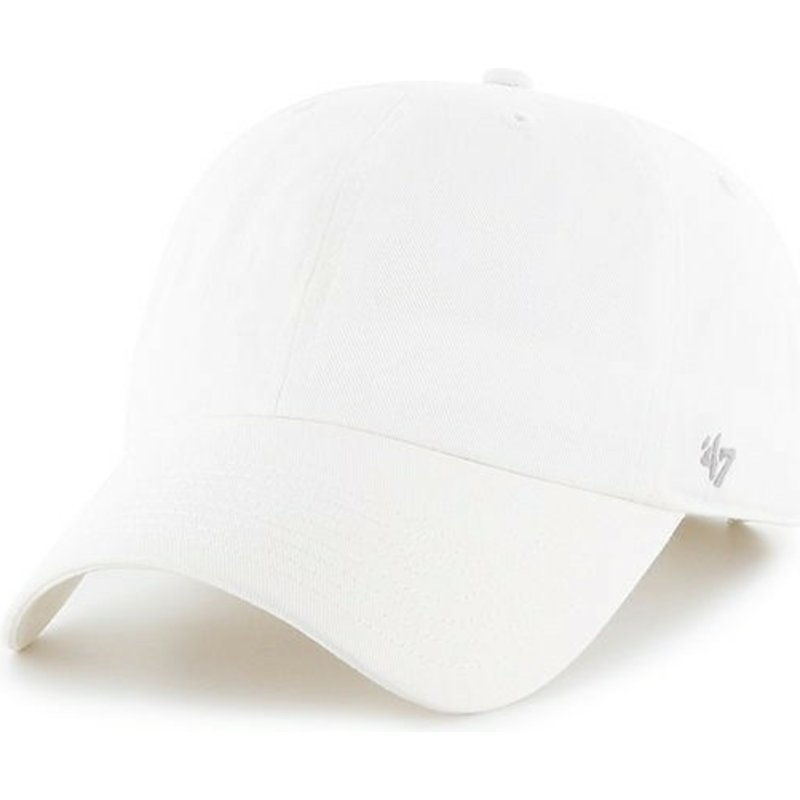 casquette-a-visiere-courbee-blanche-unie-47-brand