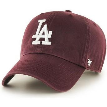 47 Brand Curved Brim Los Angeles Dodgers MLB Clean Up Cap Granat