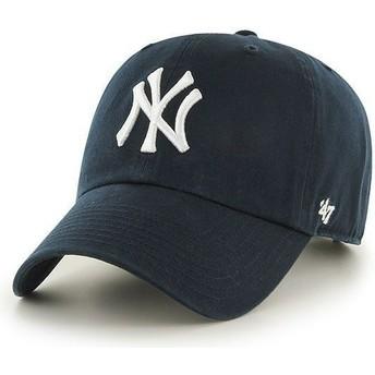47 Brand Curved Brim New York Yankees MLB Clean Up Cap marineblau