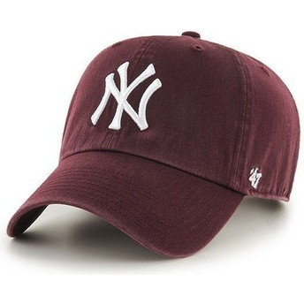 Casquette courbée grenat New York Yankees MLB Clean Up 47 Brand