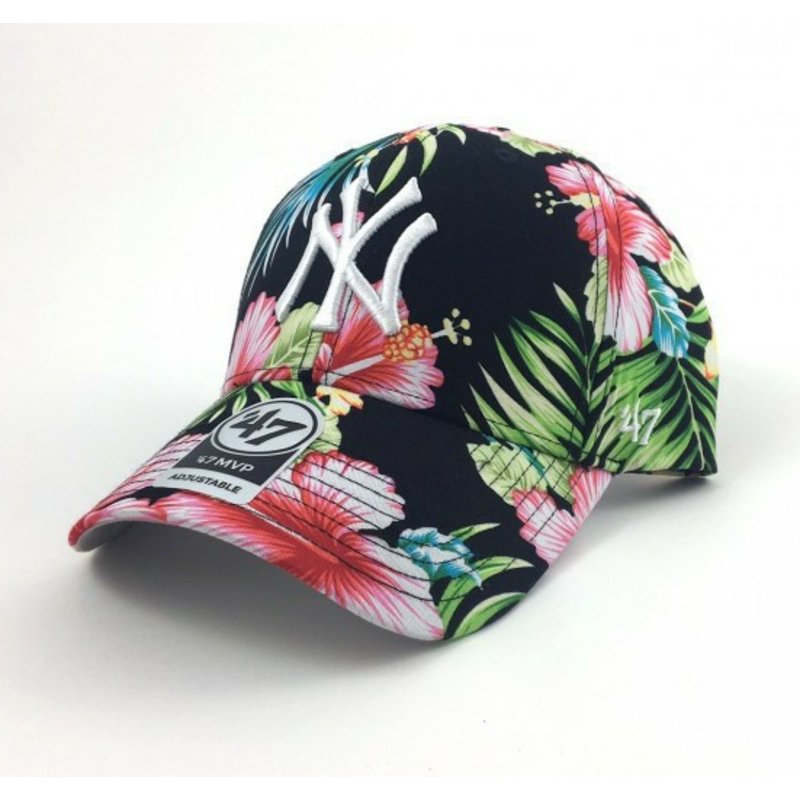 casquette-courbee-multicolore-avec-imprime-fleurs-new-york-yankees-mlb-47-brand