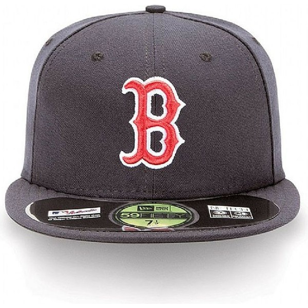 casquette-plate-bleue-marine-ajustee-59fifty-authentic-on-field-boston-red-sox-mlb-new-era